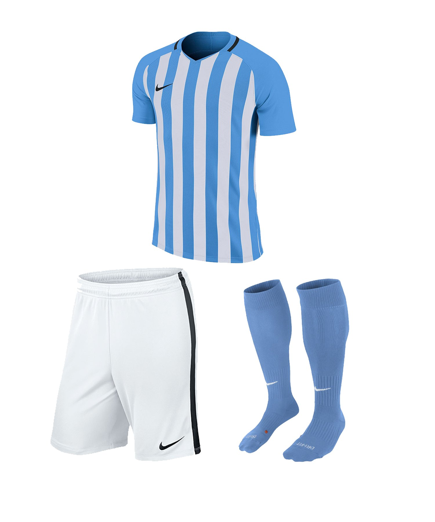 Nike Striped Division III Trikotset kurz Kids F412 - blau