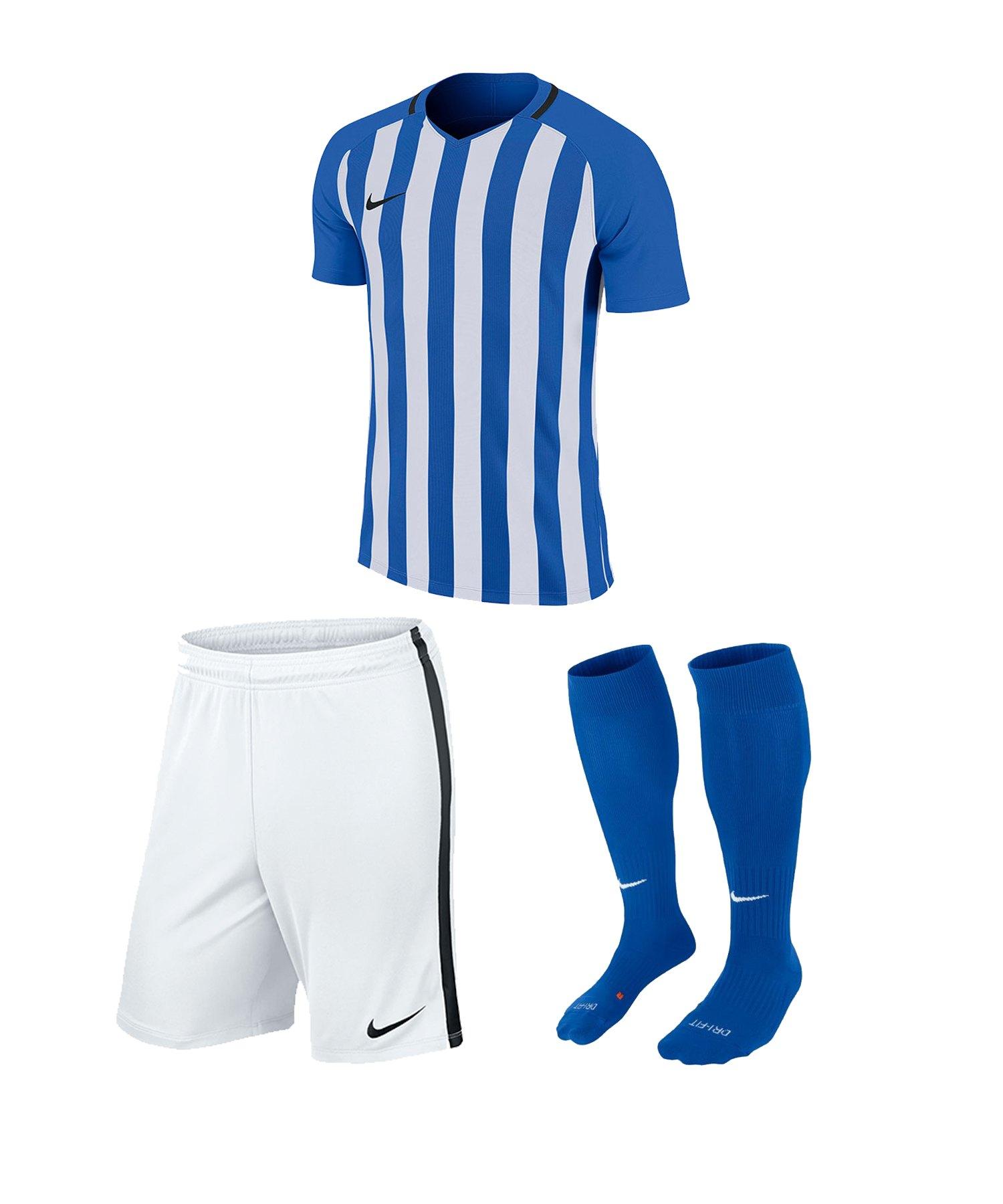 Nike Striped Division III Trikotset kurz Kids F464 - blau
