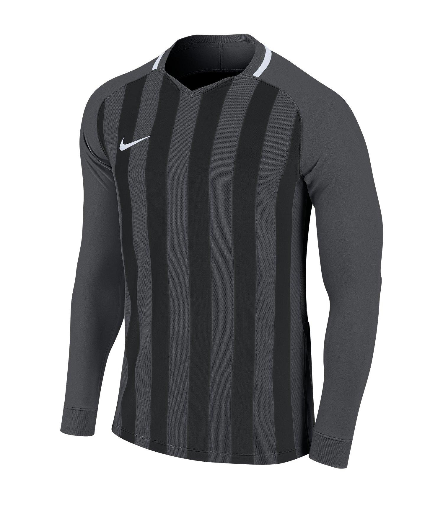 Nike Striped Division III Trikot langarm Kids F060 - grau