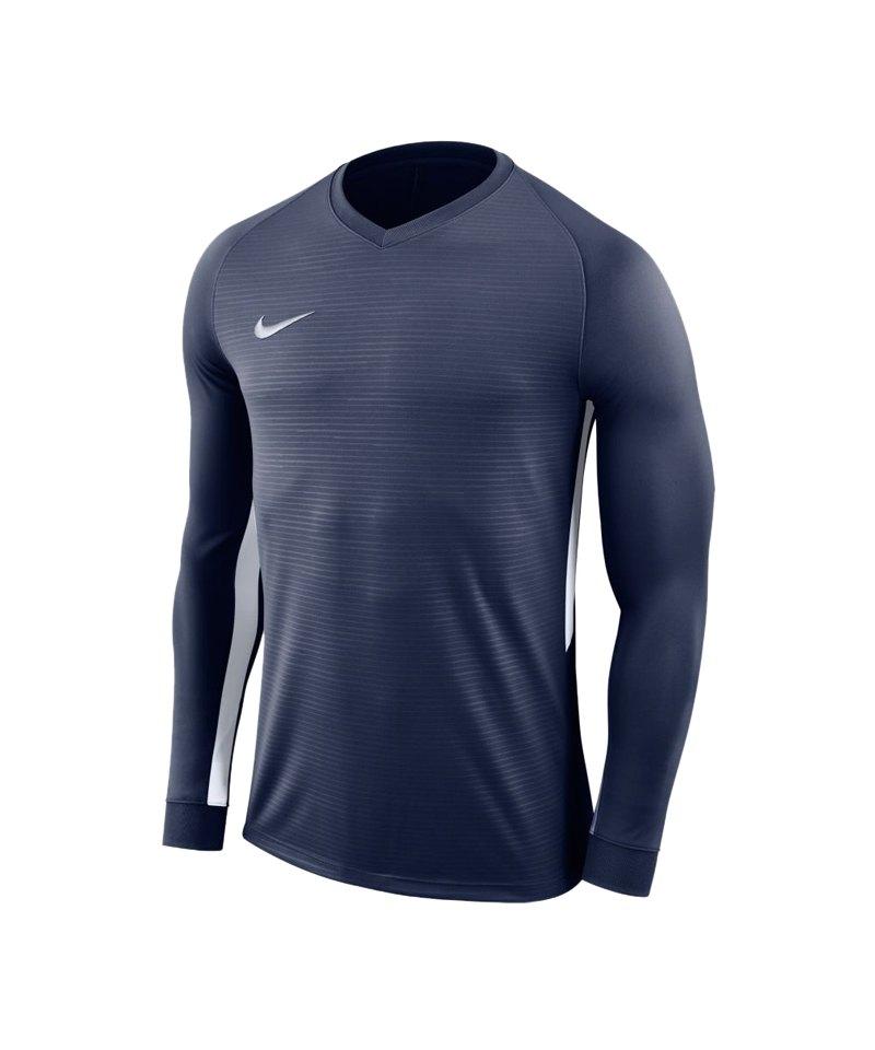 Nike Tiempo Premier Trikot Langarm Kids F411 - blau