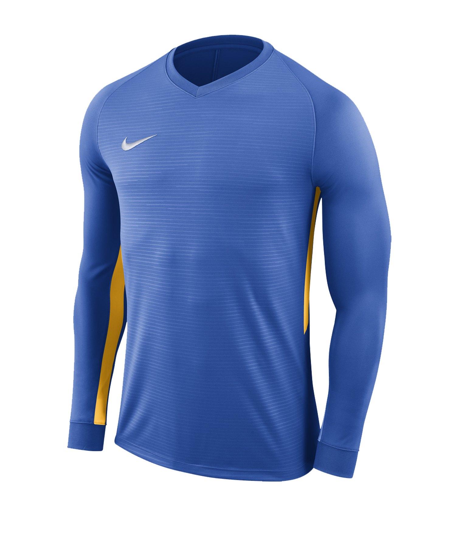 Nike Tiempo Premier Trikot Langarm Kids F464 - blau