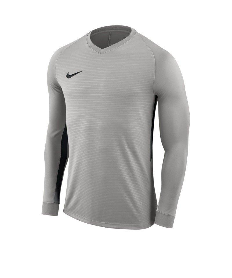 Nike Tiempo Premier Trikot langarm Kids Grau F057 - grau