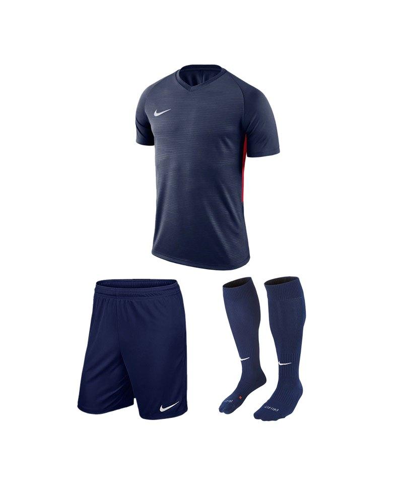 Nike Trikotset Tiempo Premier Blau Rot F410 - blau