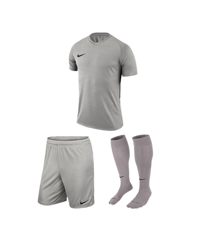Nike Trikotset Tiempo Premier Grau Schwarz F057 - grau