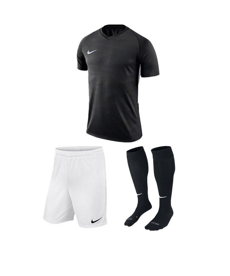 Nike Trikotset Tiempo Premier Schwarz Weiss F010 - schwarz