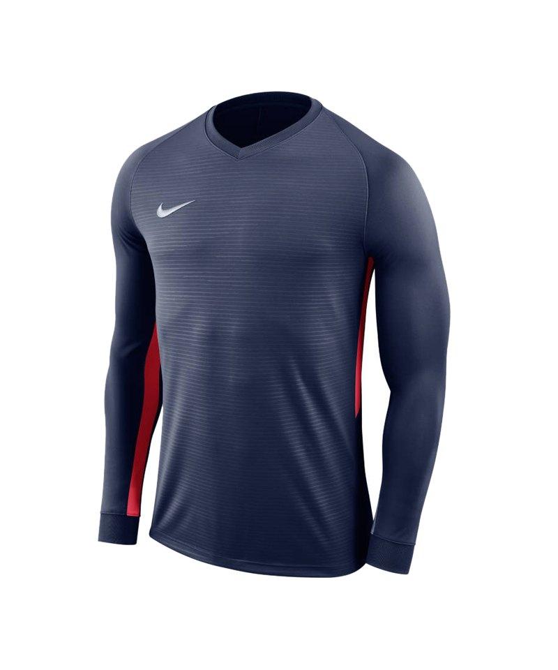 Nike Tiempo Premier Trikot Langarm F410 - blau