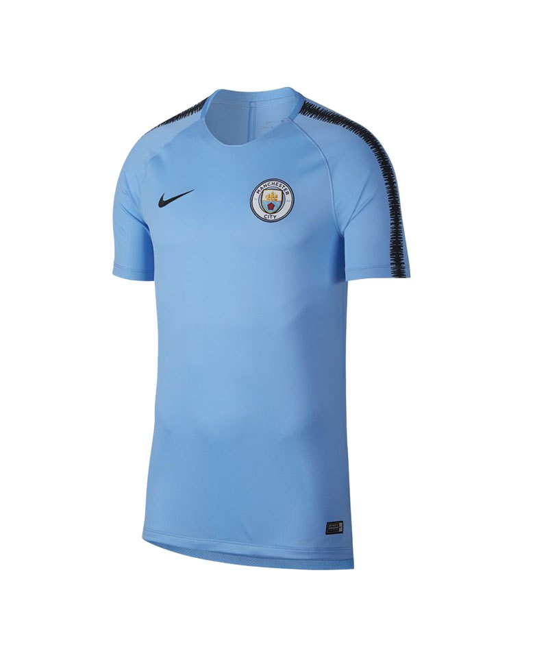 Nike Manchester City Breathe Squad T-Shirt F490 - blau