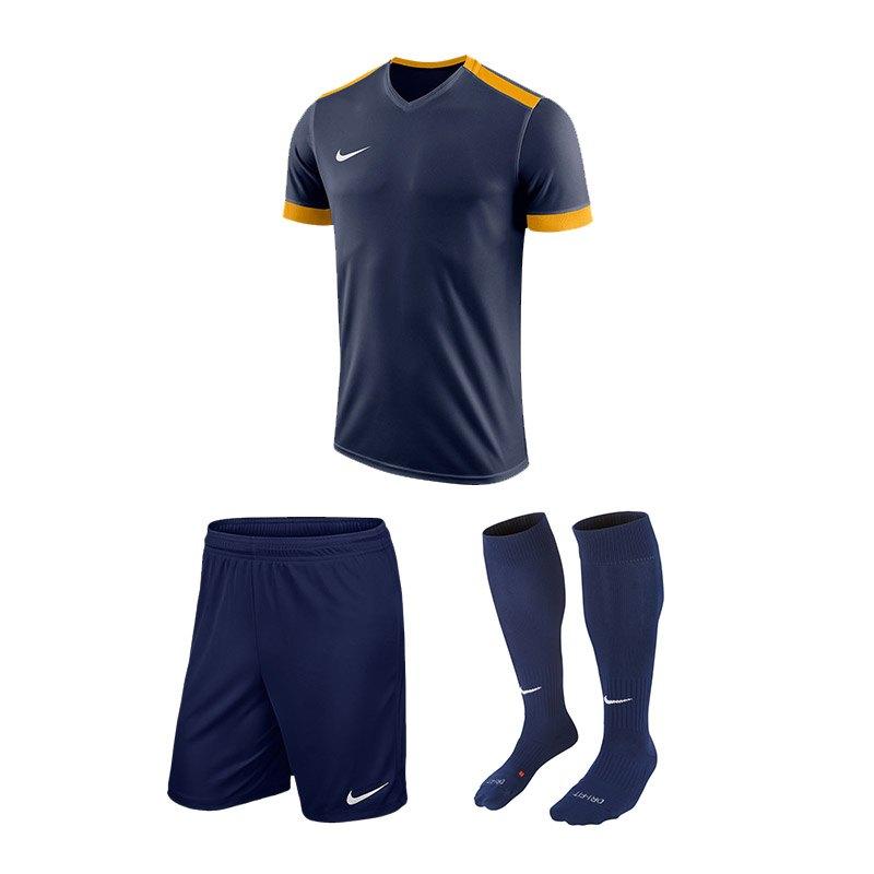 Nike Trikotset Park Derby II Blau Gold F410 - blau