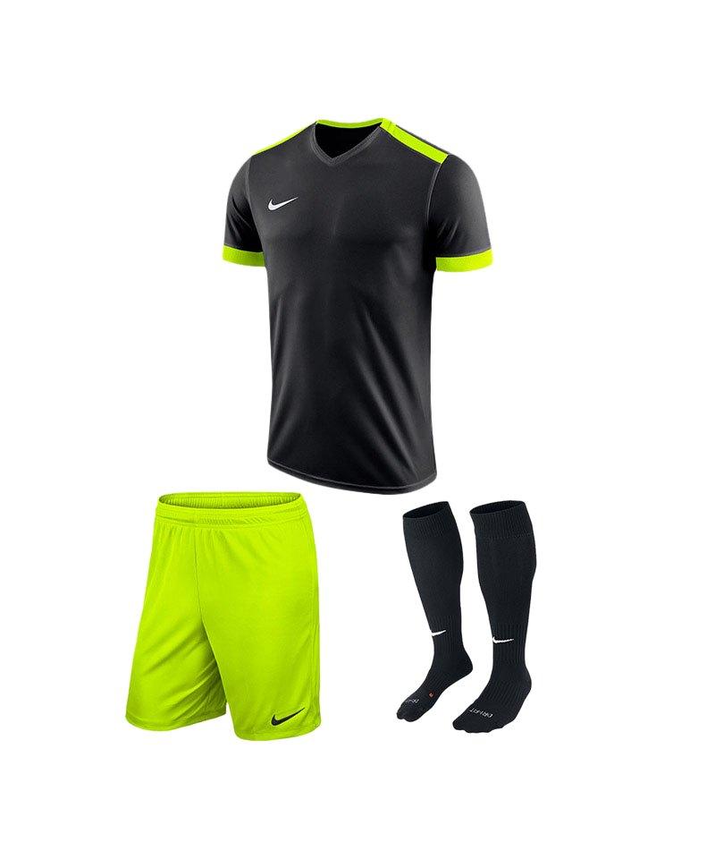 Nike Trikotset Park Derby II Schwarz Gelb F010 - schwarz