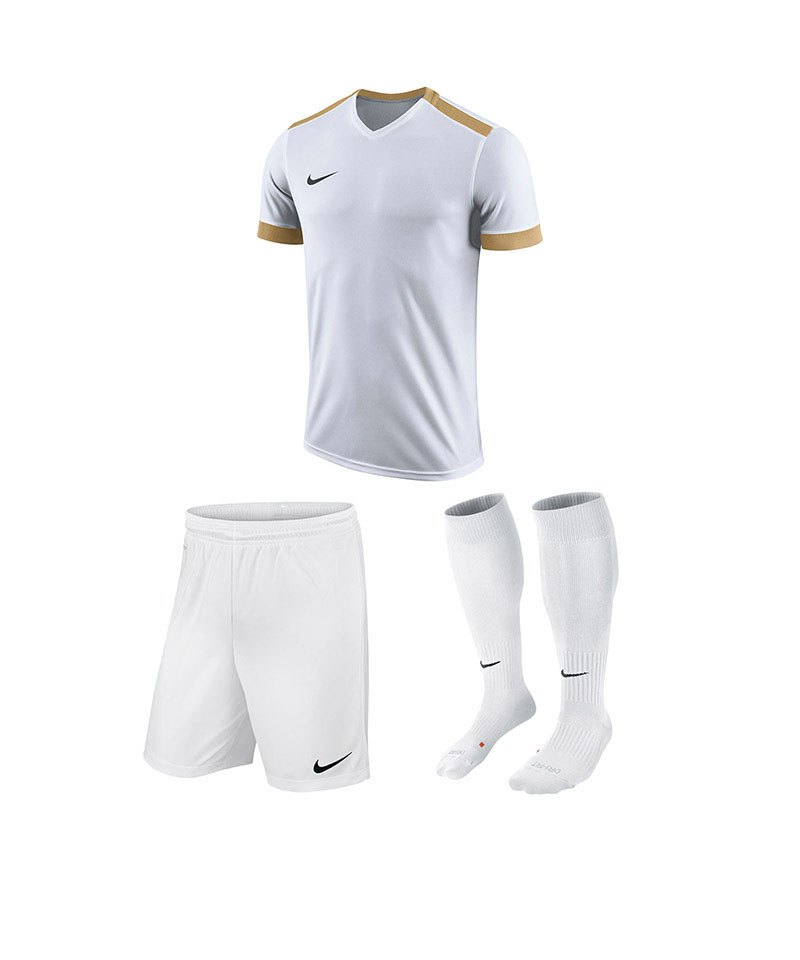 Nike Trikotset Park Derby II Weiss Gold F100 - weiss