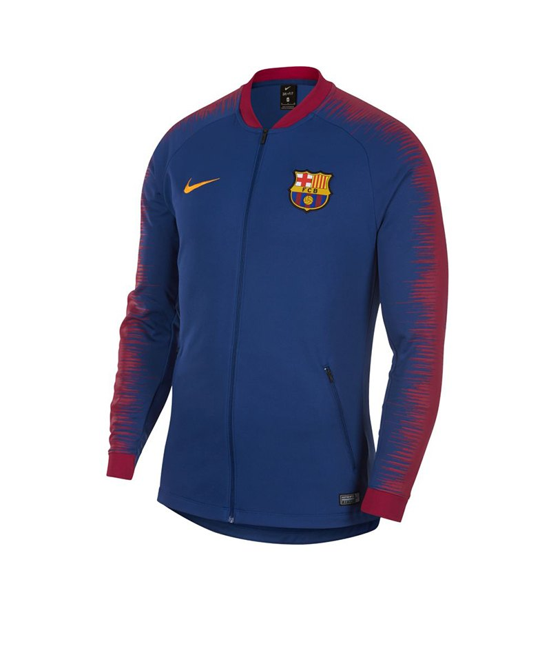 Nike FC Barcelona Anthem Jacket Jacke Blau F456 - blau