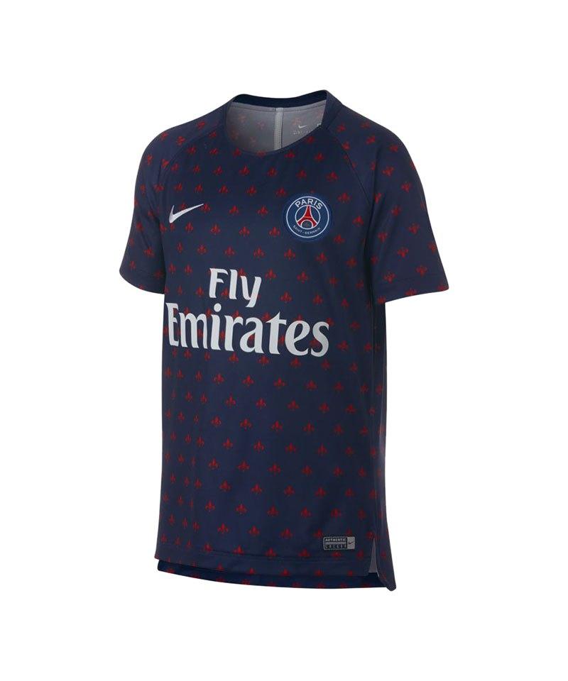 Nike Paris St. Germain Dry Squad T-Shirt Kids F411 - blau