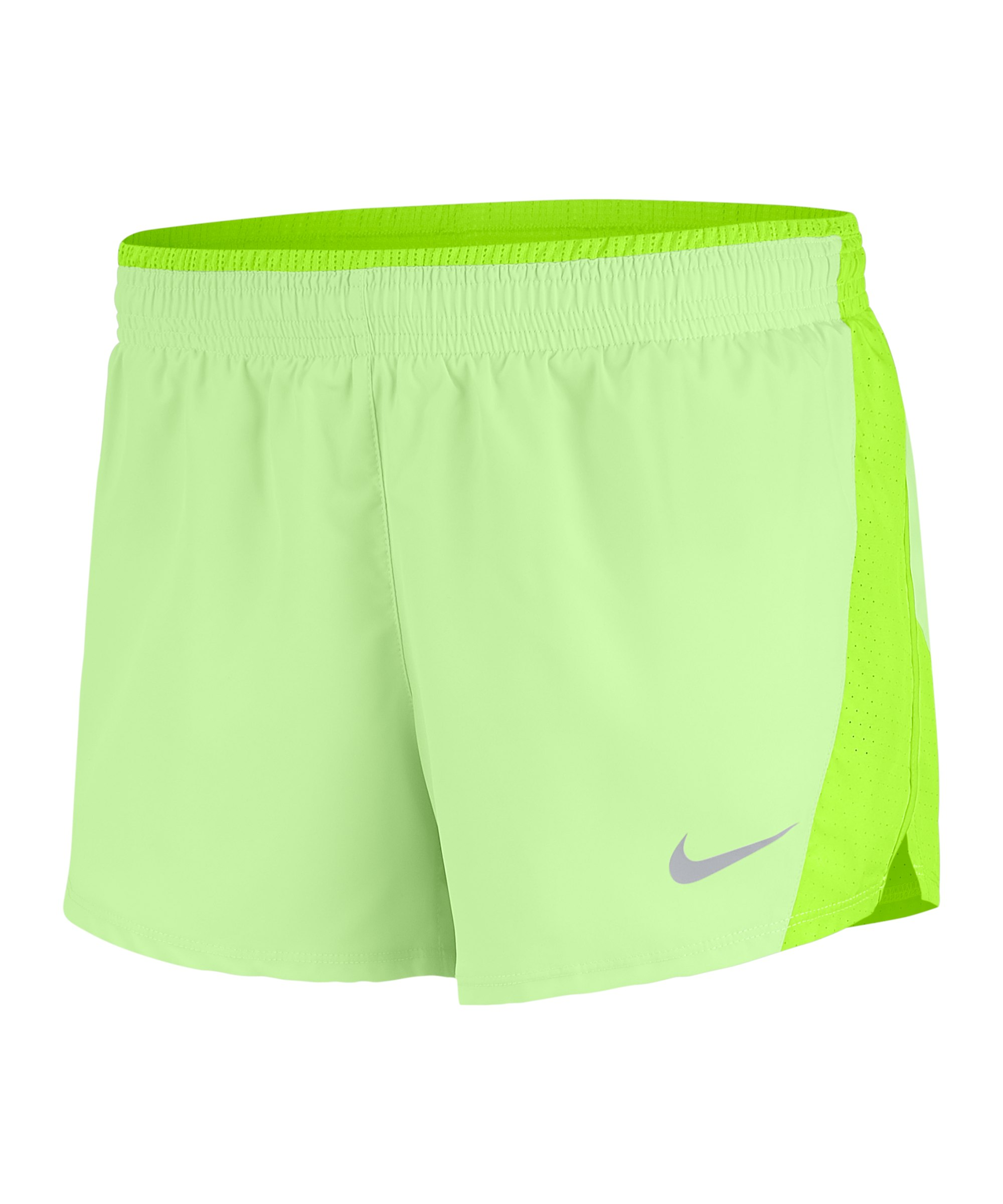 Nike 10K Short Running Damen Grün F701 - gruen