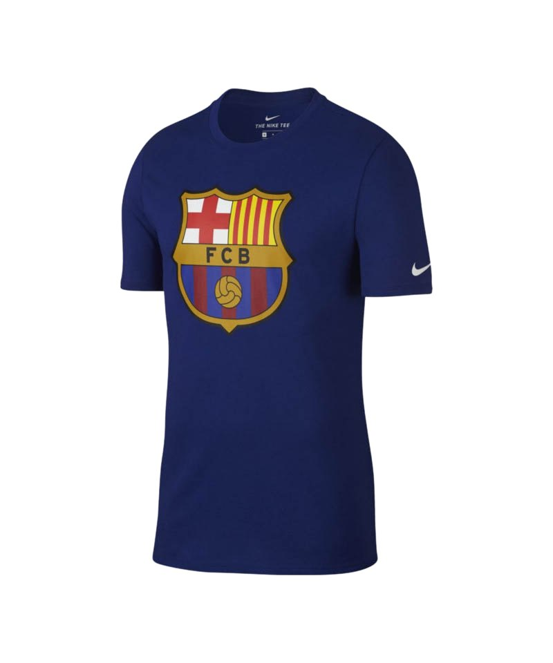 Nike FC Barcelona Crest Tee T-Shirt Blau F455 - blau