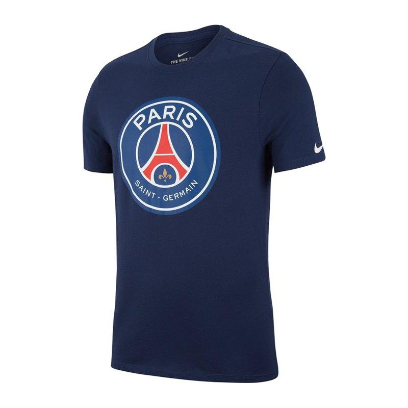 Nike Paris St. Germain Crest T-Shirt Blau F410 - blau
