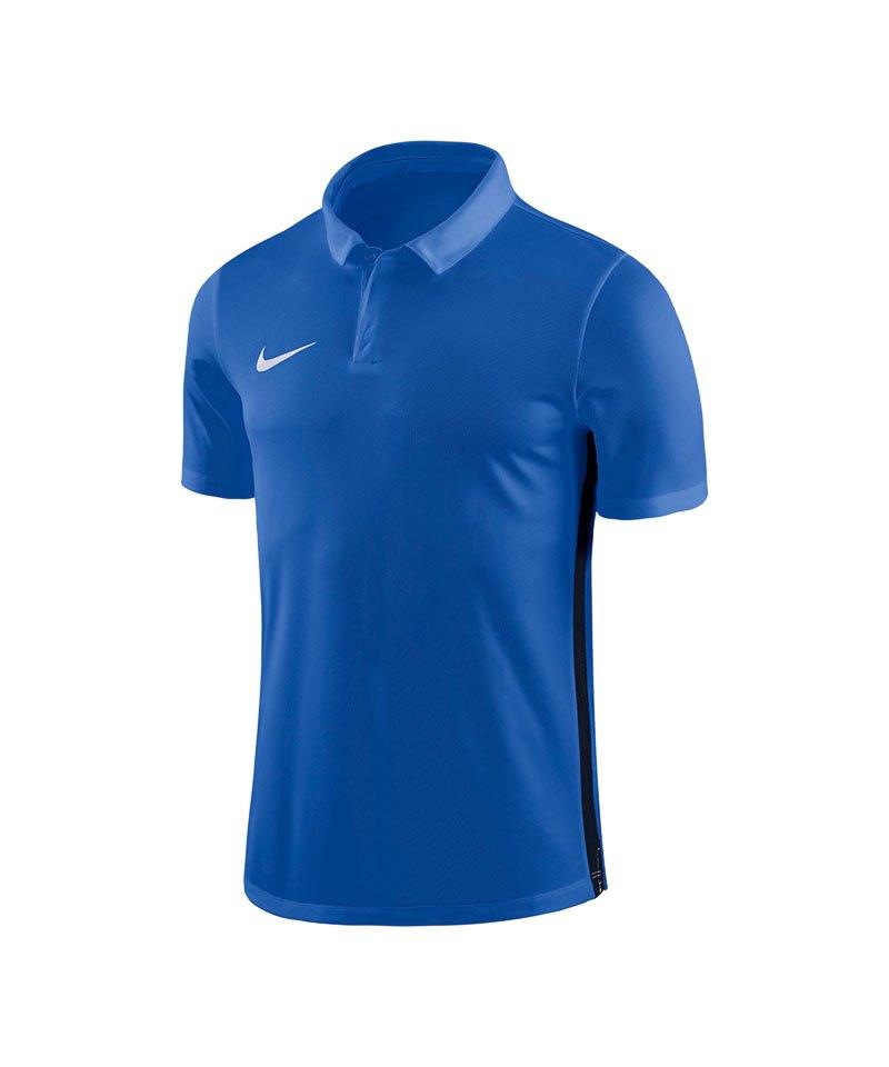 Nike Academy 18 Football Poloshirt Blau F463 - blau