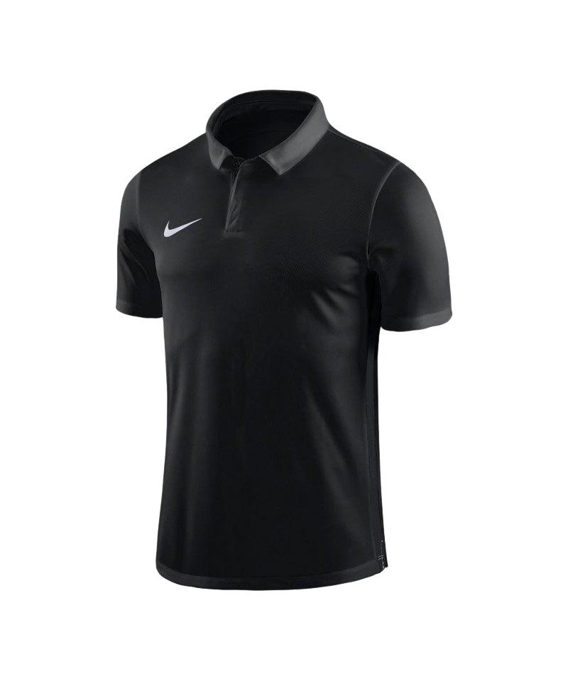 Nike Academy 18 Football Poloshirt Schwarz F010 - schwarz