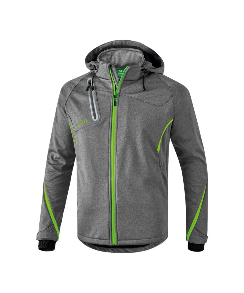 Erima Active Wear Function Softshell Jacke Grau - grau