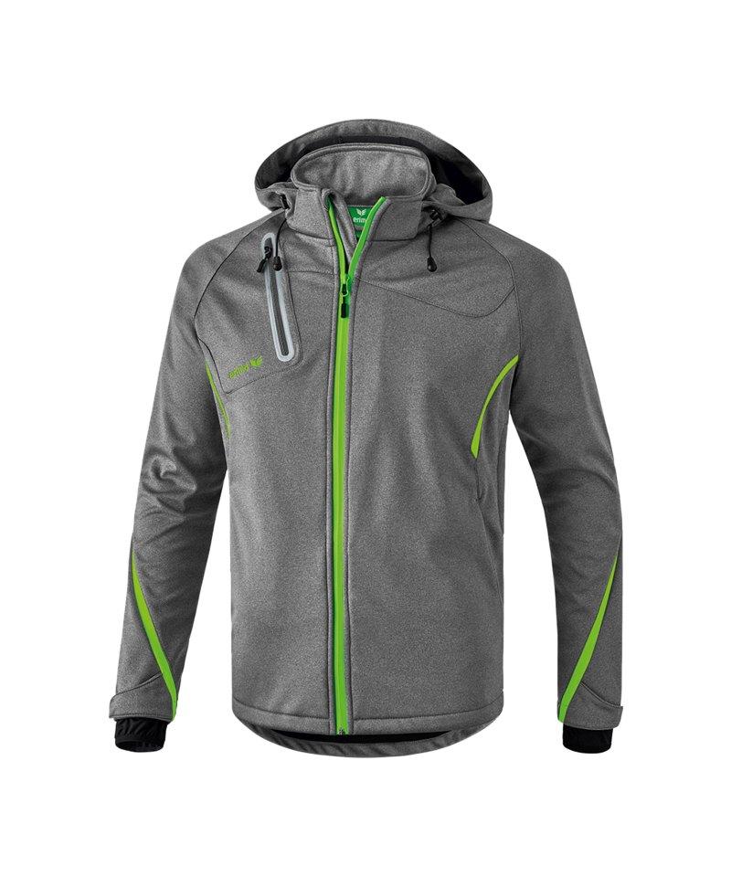 Erima Active Wear Softshell Jacke Kinder Grau - grau