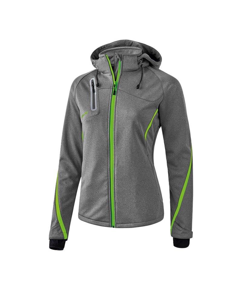 Erima Active Wear Softshell Jacke Damen Grau - grau