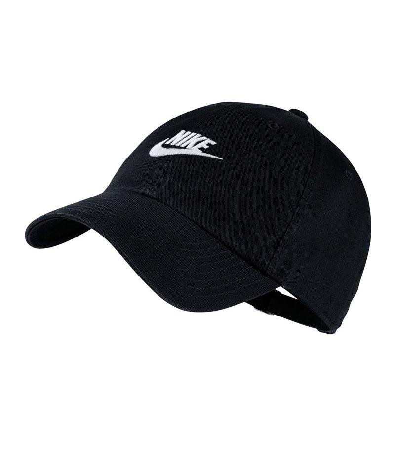 Nike Heritage 86 Washed Cap Kappe Schwarz F010 - schwarz