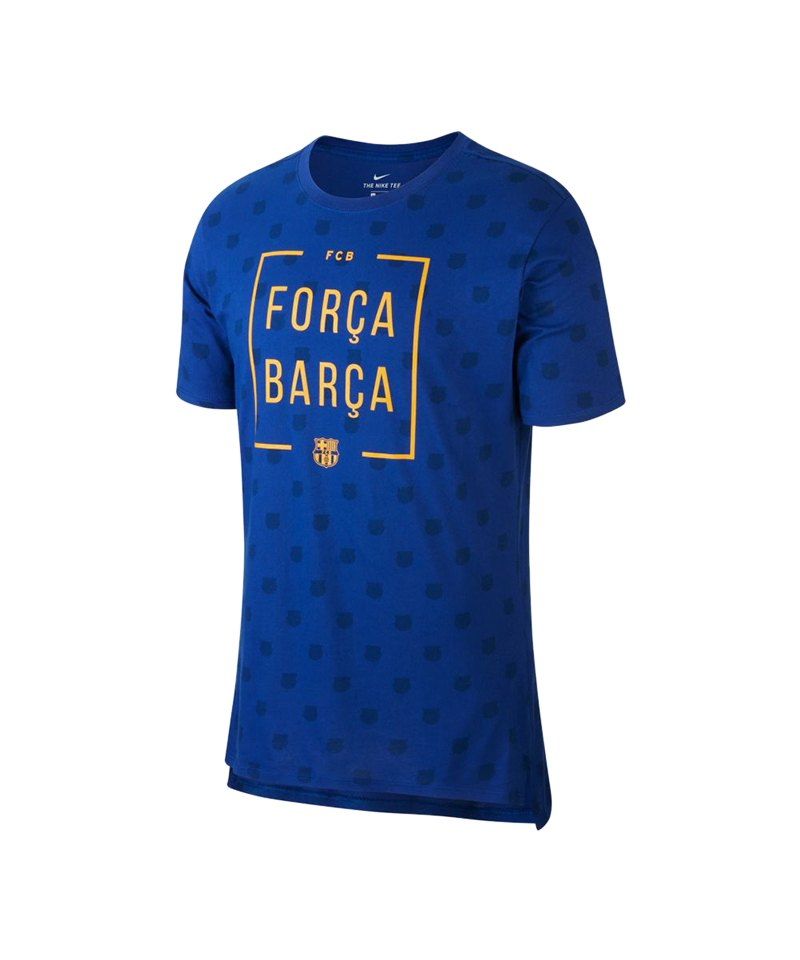 Nike FC Barcelona Squad Tee T-Shirt Blau F455 - blau