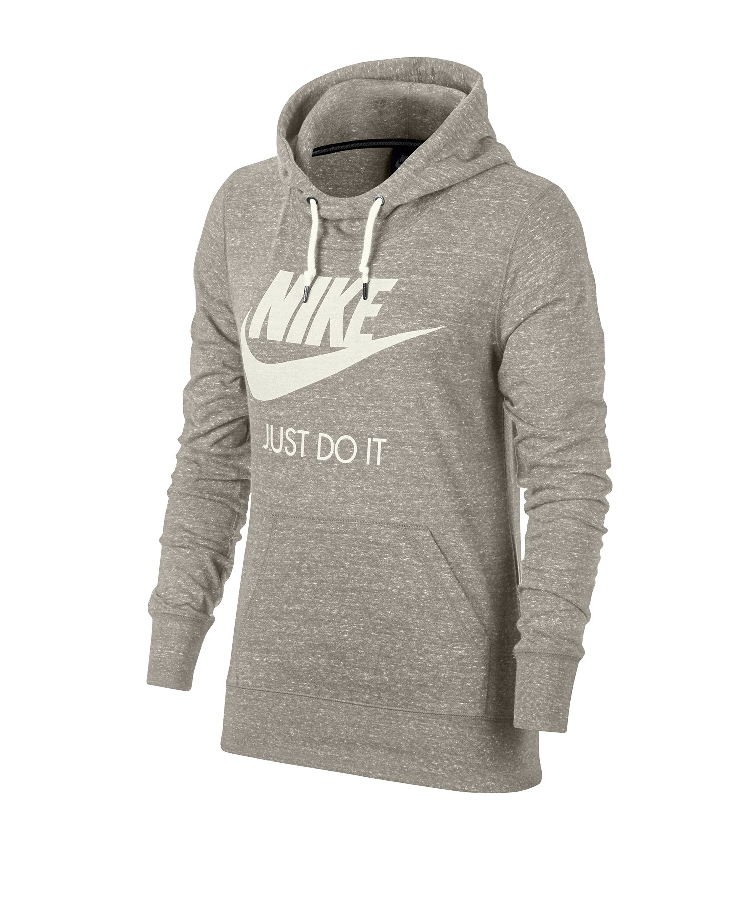 Nike Gym Vintage Kapuzensweatshirt Damen Grau F140 - beige