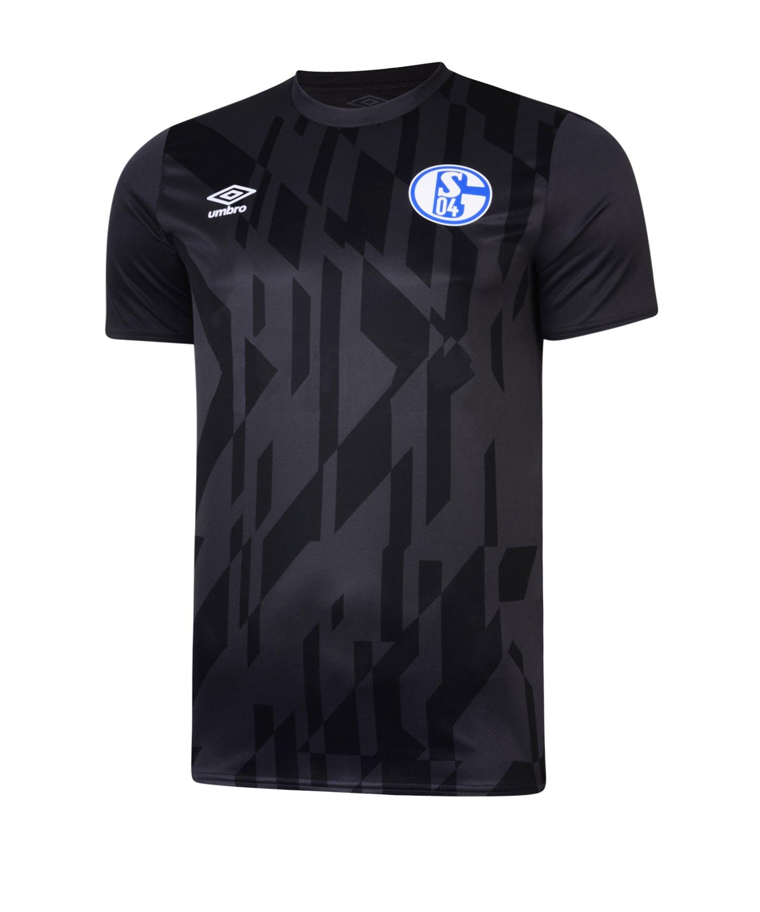 Umbro FC Schalke 04 Jersey Warm Up T-Shirt FFSW - schwarz