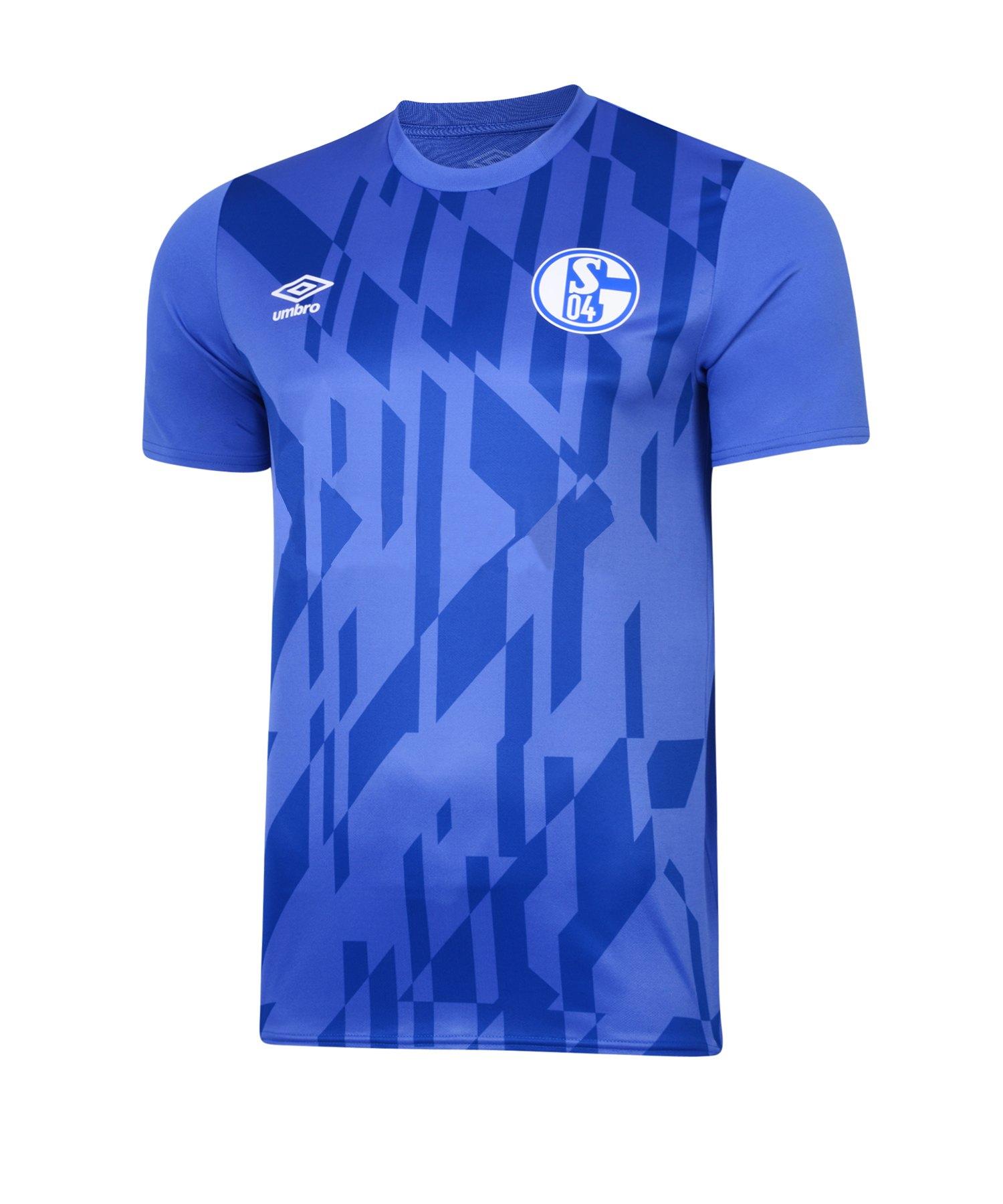 Umbro FC Schalke 04 WarmUp T-Shirt Kids 19/20 F71N - blau
