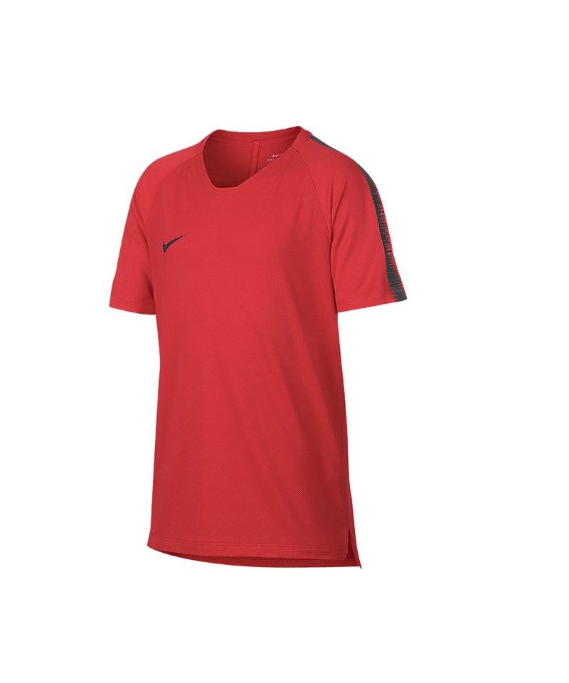 Nike Breathe Squad Top kurzarm Kids F696 - rot