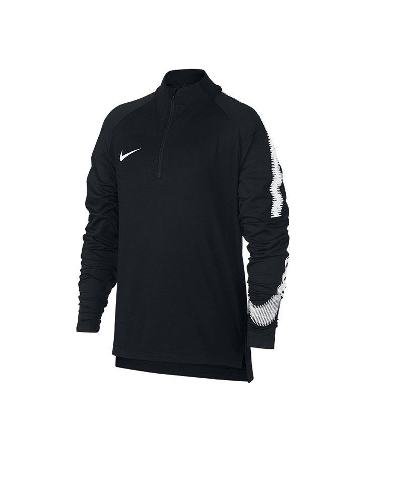 Nike Dry Squad Drill Top langarm Kids F012 - schwarz