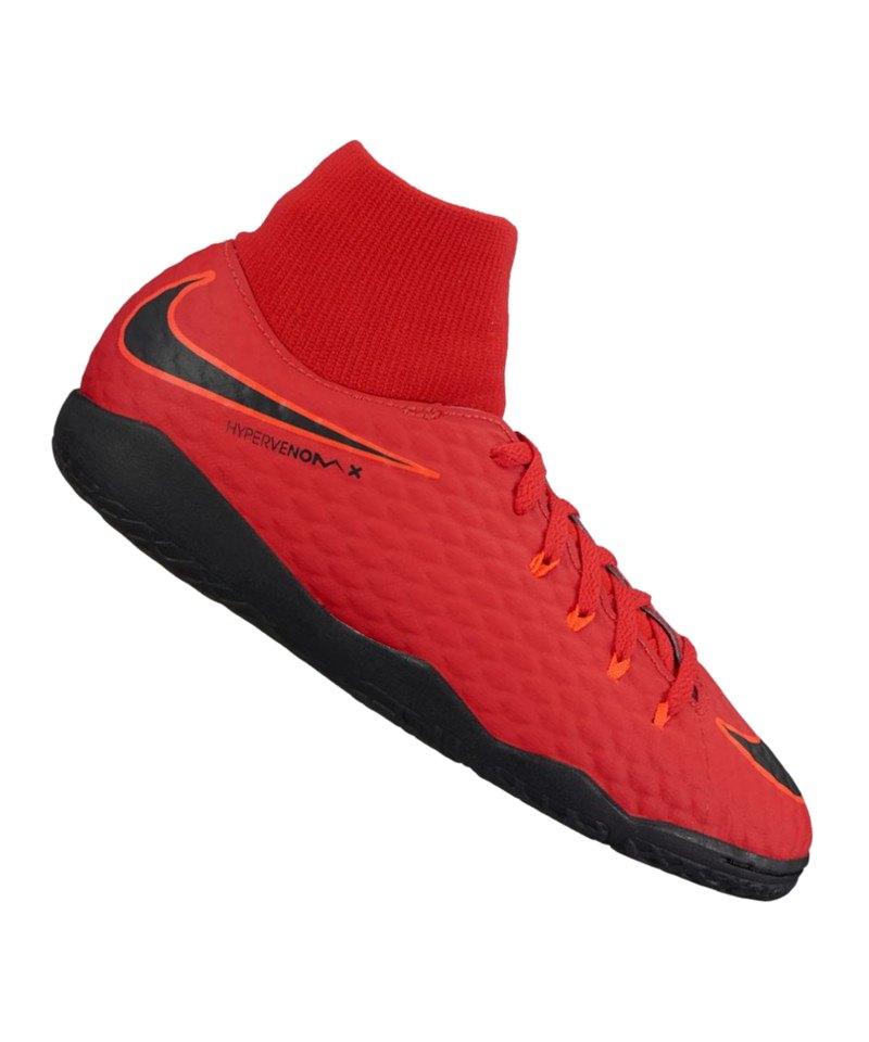 Nike Jr Hypervenom Phelon III DF IC Kids Rot F616 - rot