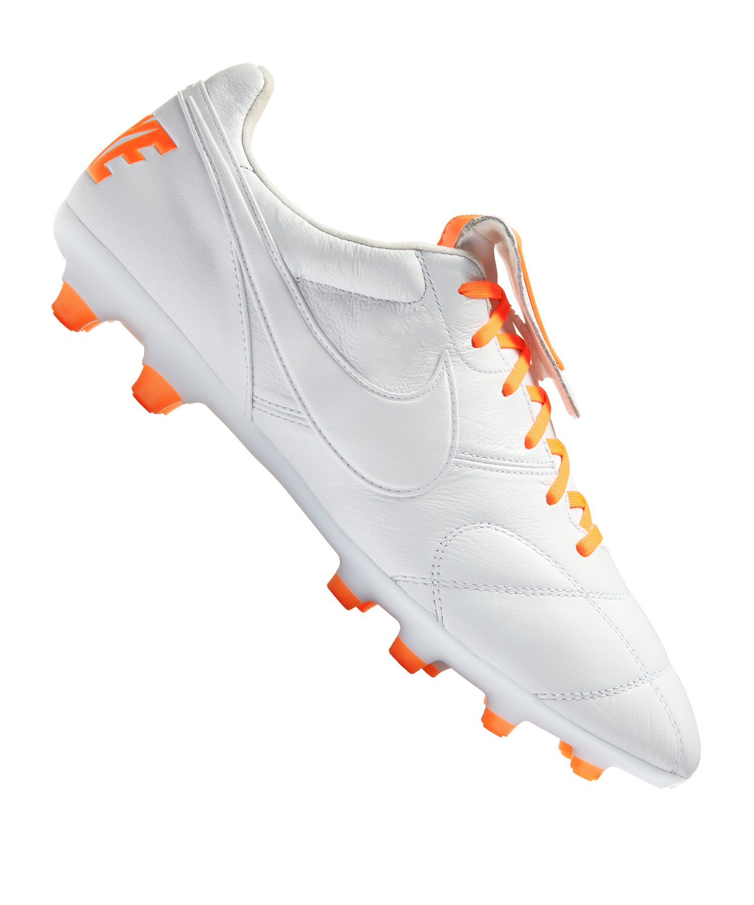 Nike The Premier II FG Weiss Orange F181 - weiss