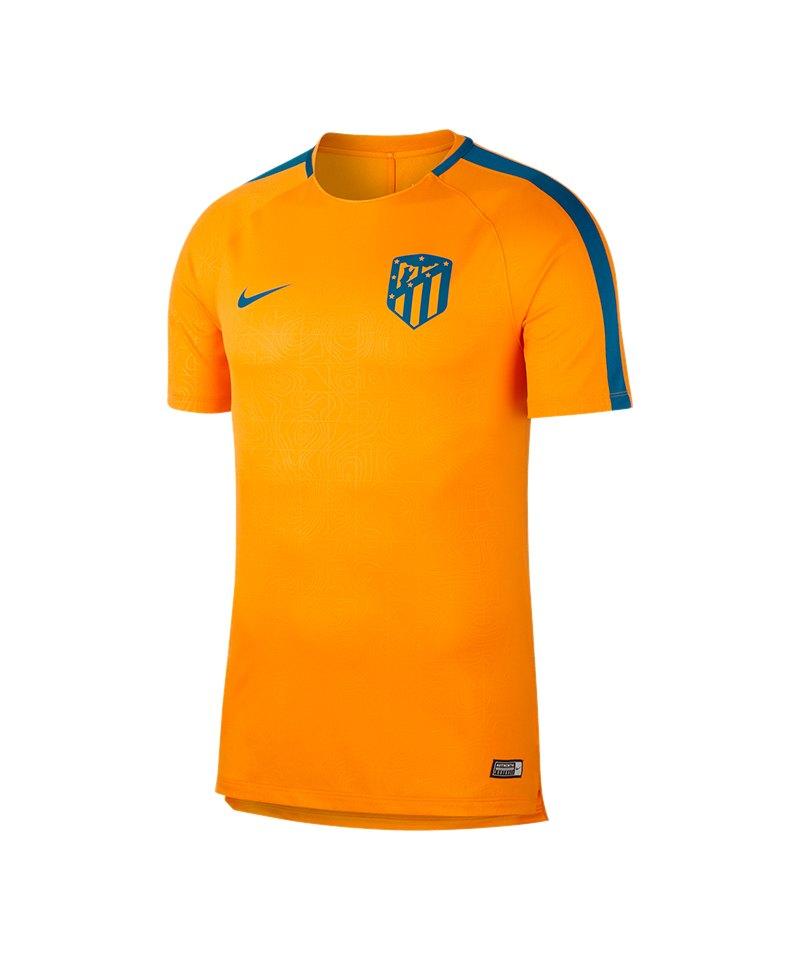 Nike Atletico Madrid Dry Squad T-Shirt Orange F833 - orange