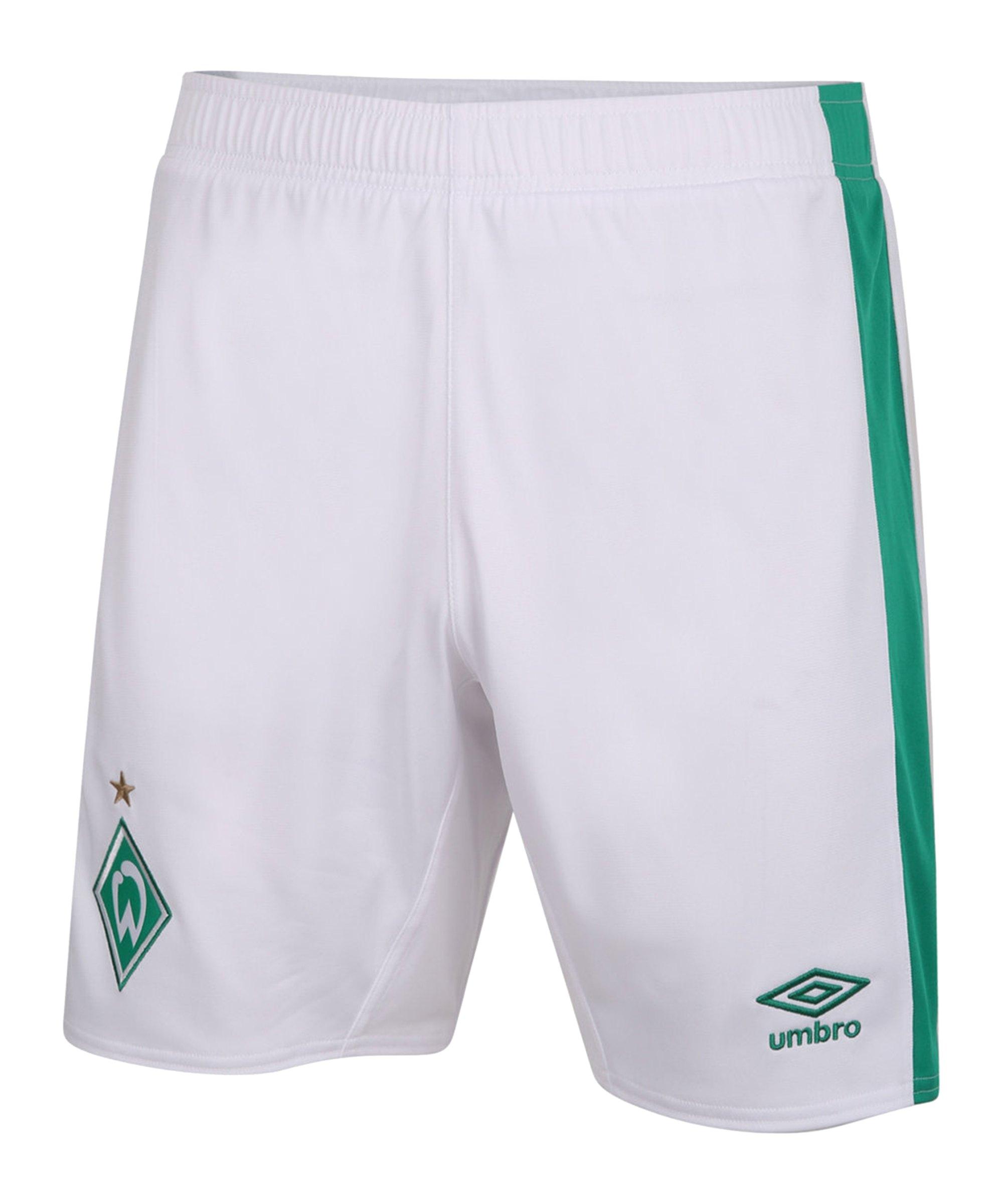 Umbro SV Werder Bremen Short Home Kids 2020/2021 - weiss