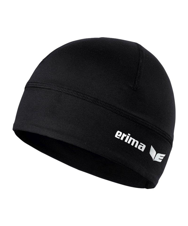 Erima Performance Beanie Mütze Schwarz - schwarz
