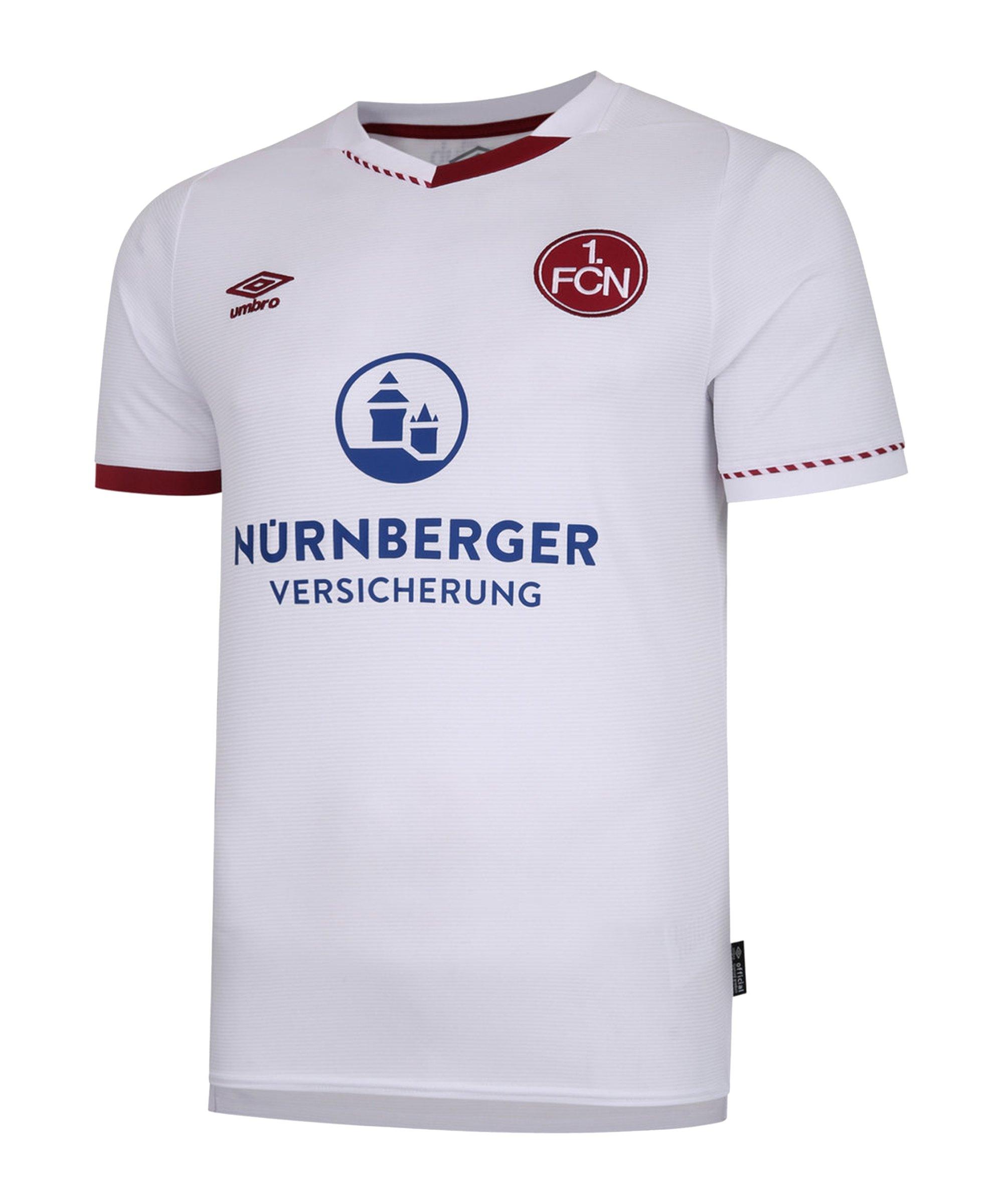 Umbro 1. FC Nürnberg Trikot Away Kids 2020/2021 Weiss - weiss