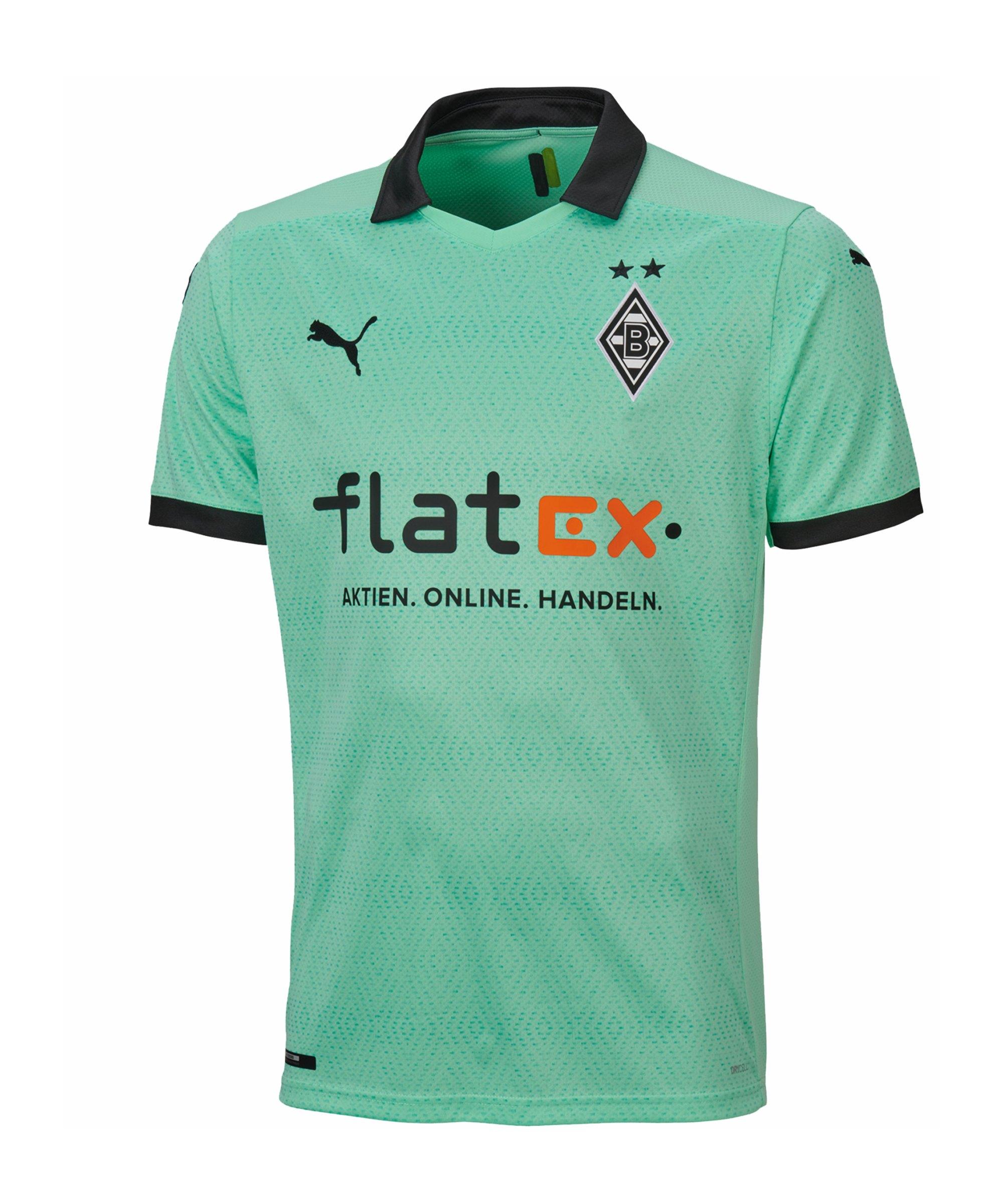 PUMA Borussia Mönchengladbach Trikot 3rd 2020/2021 Kids Grün F03 - gruen