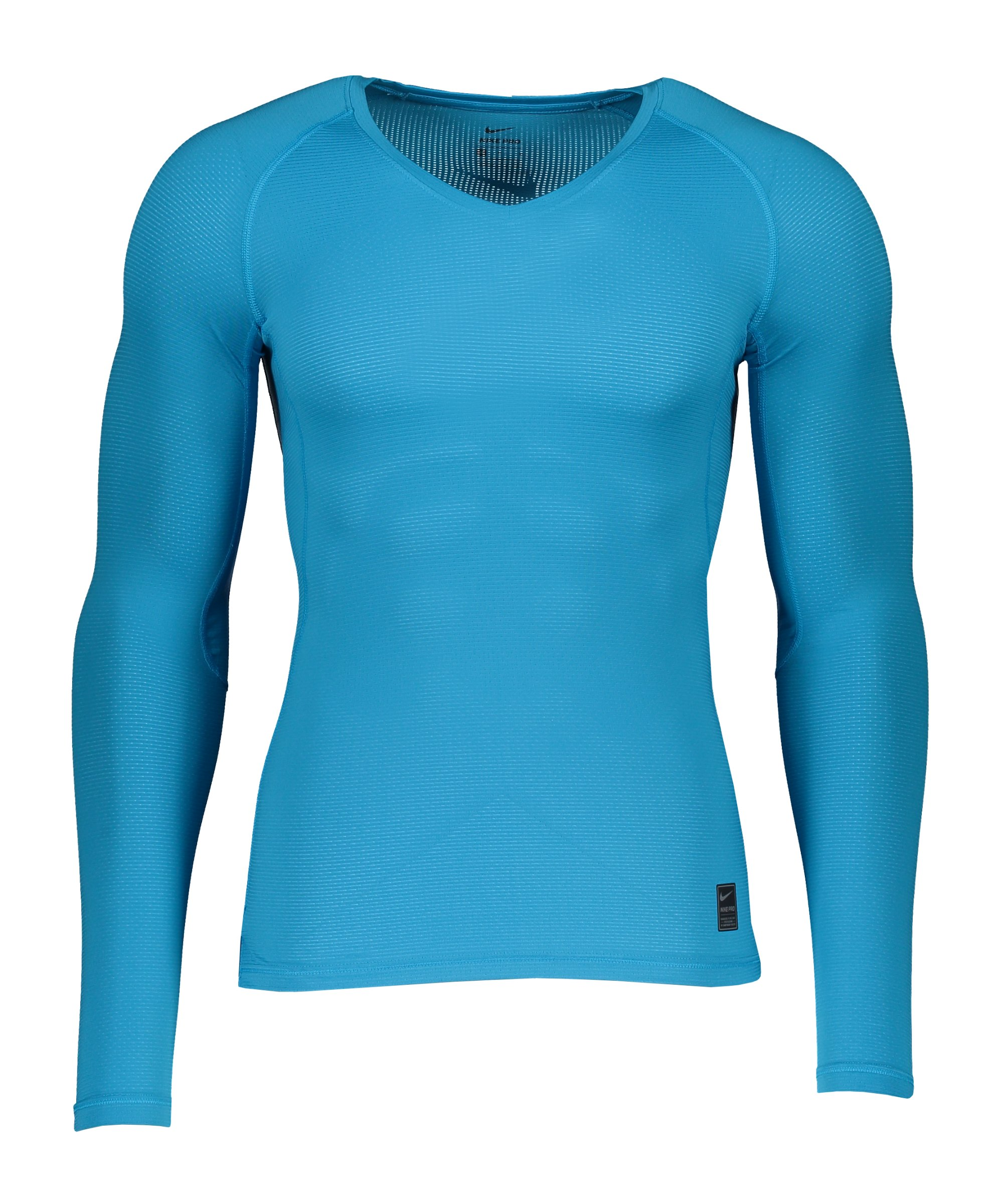 Nike Pro Hypercool Comp Shirt langarm Blau F446 - blau