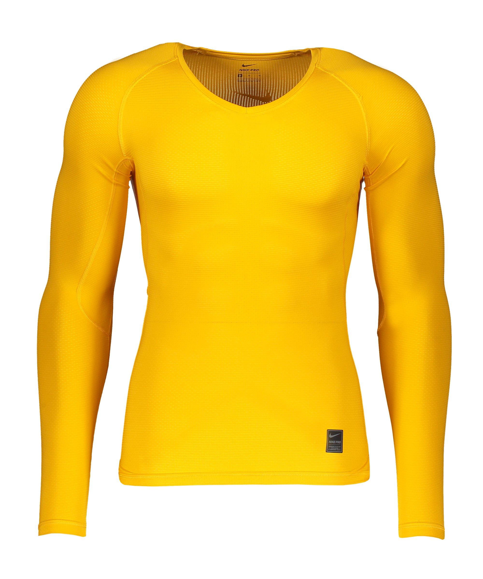 Nike Pro Hypercool Comp Shirt langarm F739 - gelb