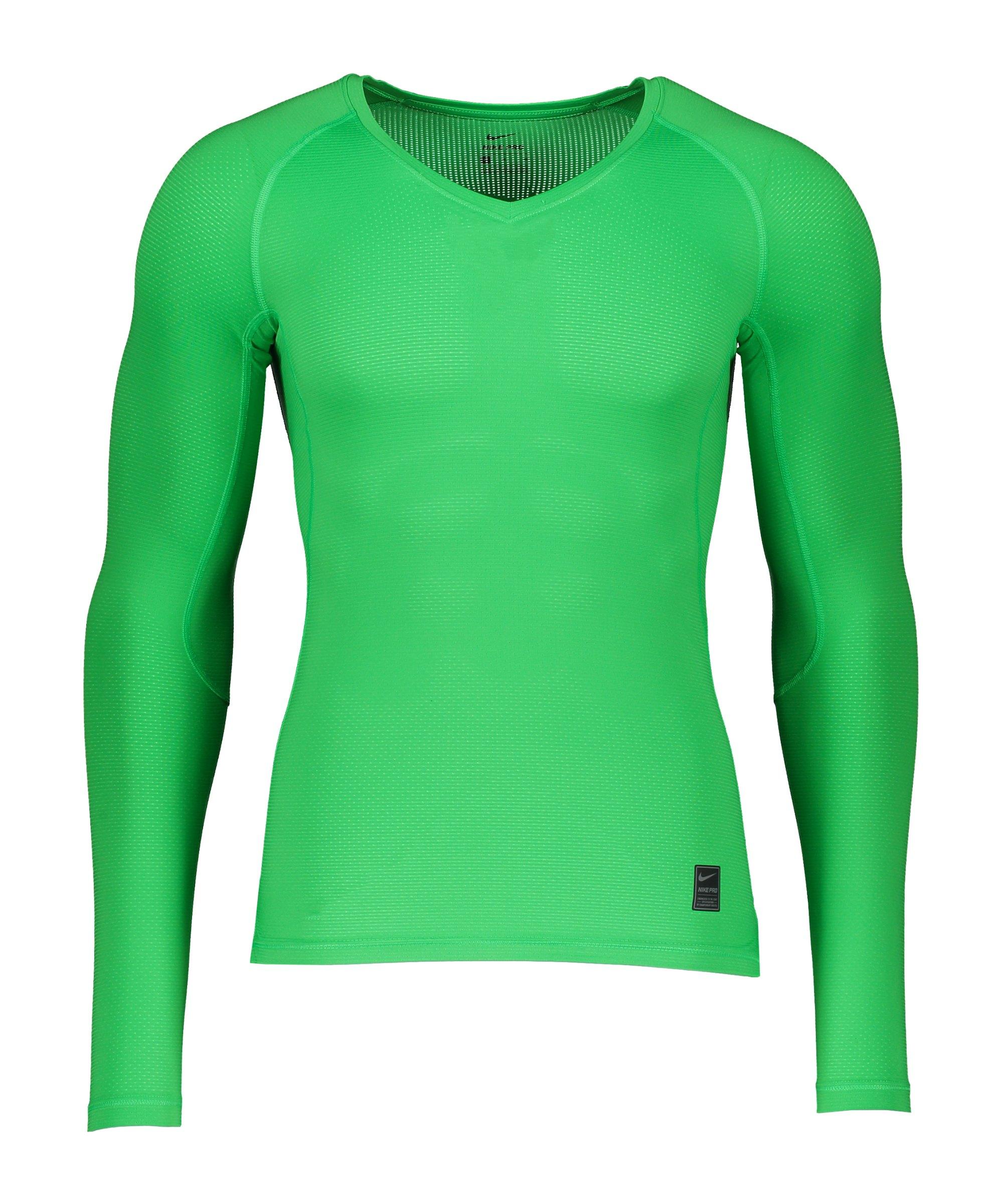 Nike Pro Hypercool Comp Shirt langarm Grün F329 - gruen