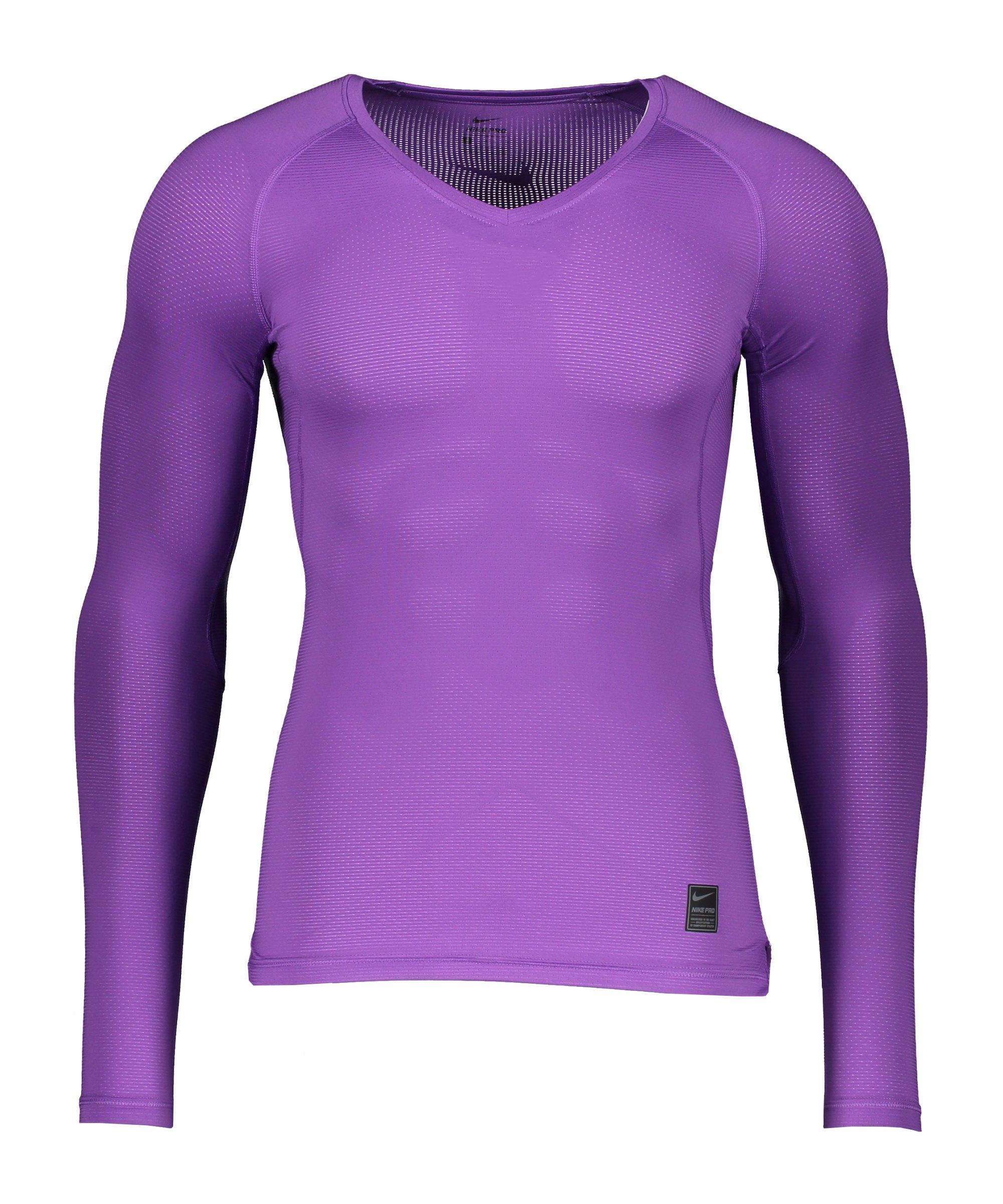 Nike Pro Hypercool Comp Shirt langarm Lila F528 - lila
