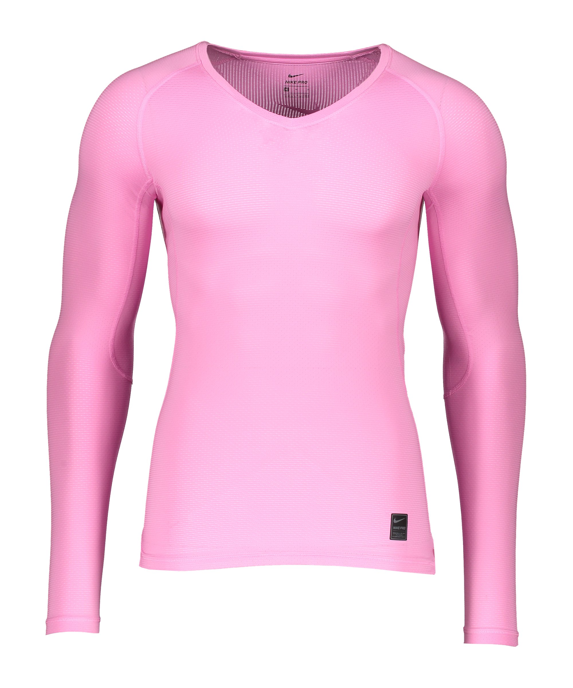 Nike Pro Hypercool Comp Shirt langarm Rosa F627 - rosa