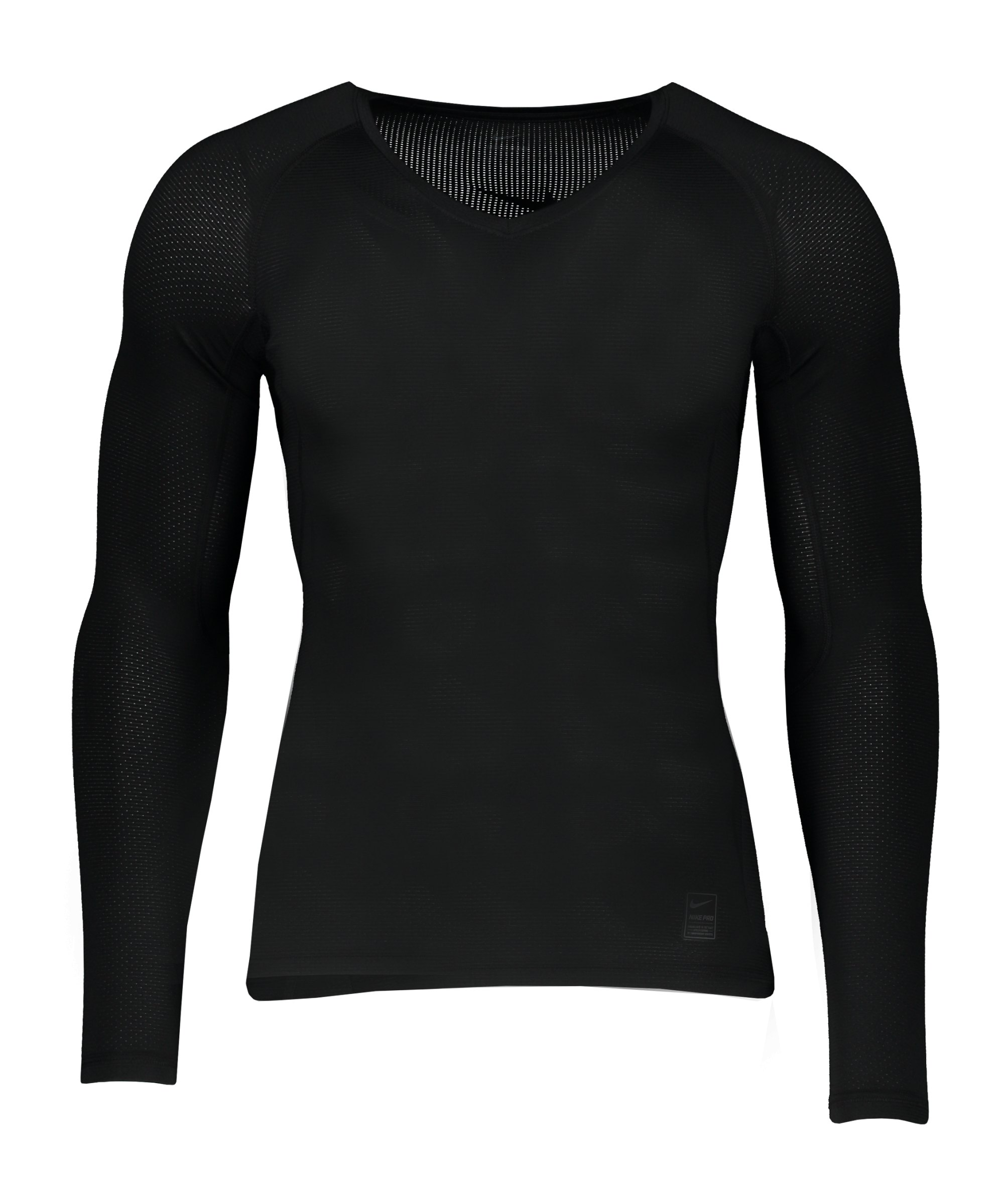 Nike Pro Hypercool Comp Shirt langarm Schwarz F010 - schwarz