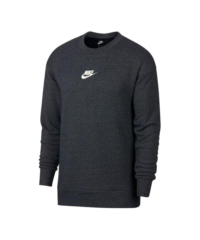Nike Heritage Fleece Sweater Schwarz F010 - schwarz