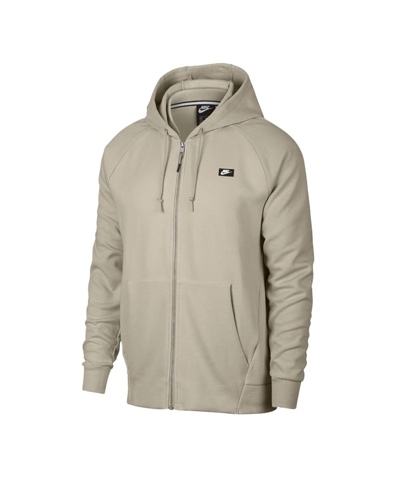 Nike Optic Fleece Kapuzenjacke Beige Grau F221 - beige