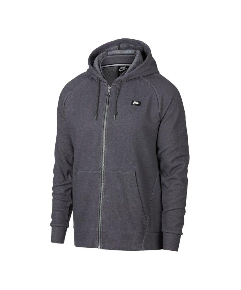 Nike Optic Fleece Kapuzenjacke Grau F021 - grau