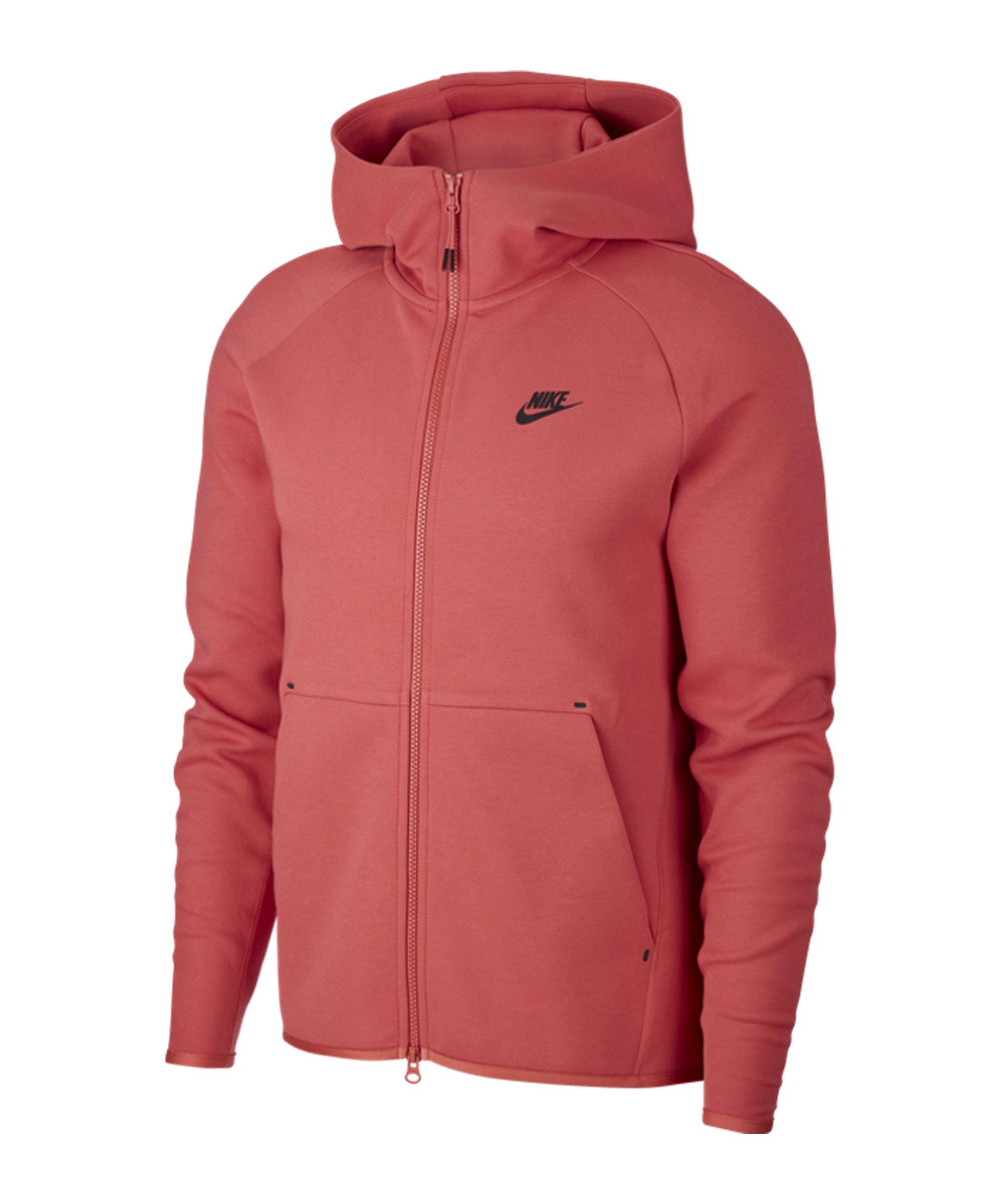 Nike Tech Fleece Kapuzenjacke Rot F603 - rot