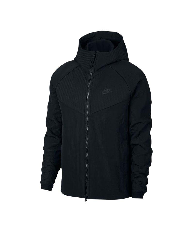Nike Web Kapuzenjacke Schwarz F010 - schwarz