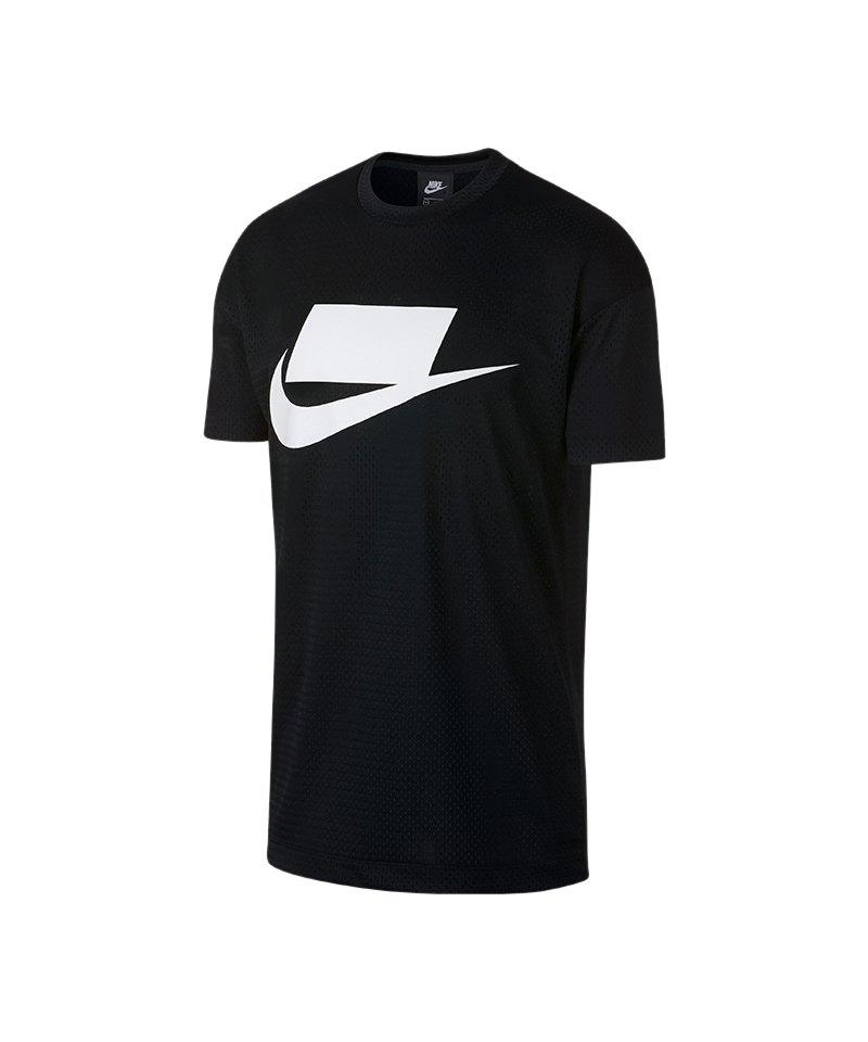 Nike Logo Print Tee T-Shirt Schwarz F010 - schwarz